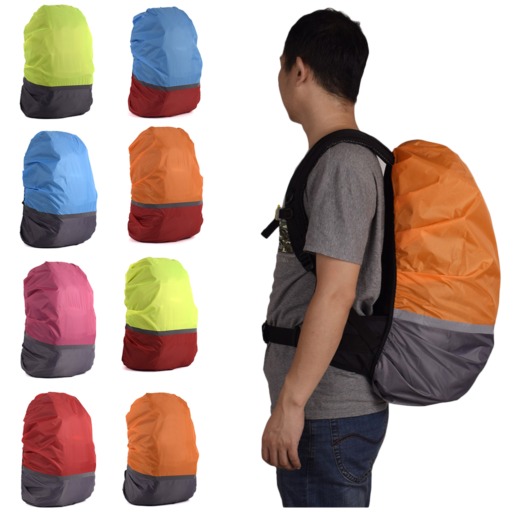 10L 70L Portable Reflective Light Waterproof Dustproof Backpack Rain Cover  Ultralight Shoulder Protect Outdoor Tools Hiking Bag-in Raincoats from Home & Garden