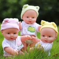30cm Reborn Baby Doll Soft Vinyl Silicone Lifelike Newborn Baby Doll For Girls Birthday Gift Simulation