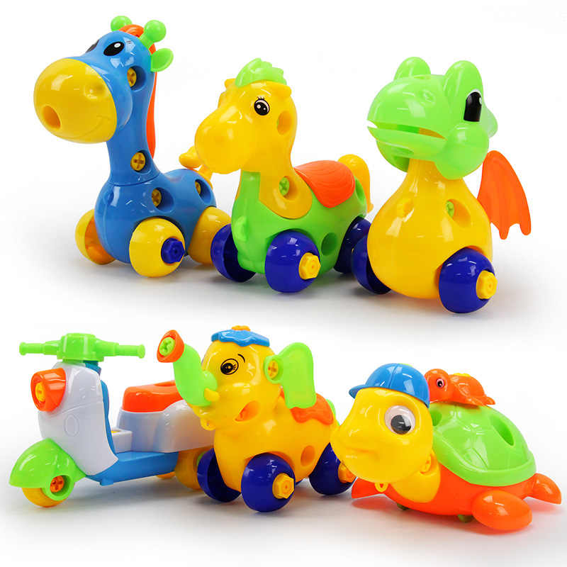 Раннее Обучение Образование DIY Винт Гайка Группа установлен пластик 3d головоломка разборка мотоцикл детские игрушки для детей головоломки