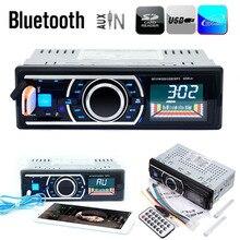 Bluetooth Manos Libres Estéreo Del Coche Reproductor de Audio MP3 60 W * 4 de Radio FM Receptor de Entrada Aux USB SD con Control Remoto DC 12 V Con Móvil teléfono