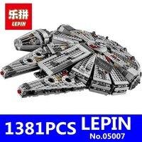 Star Wars 7 LEPIN 05007 1381Pcs Millennium Falcon Force Awakening Building Blocks Toys For Children Toys