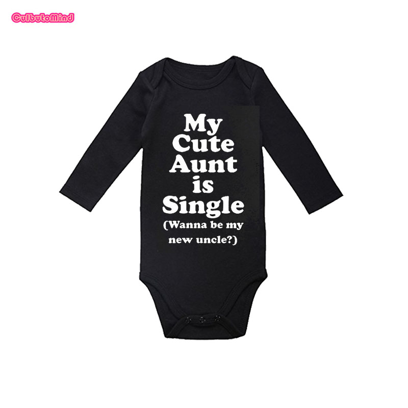 Culbutomind Aunt Baby Bodysuit Long Sleeve Black Newborn ...