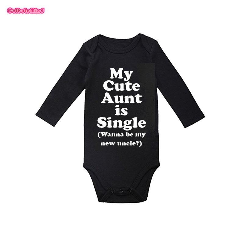 Culbutomind Aunt Baby Bodysuit Long Sleeve Black Newborn