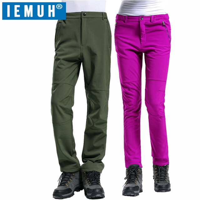 e901d18fa5d9cc IEMUH Winter Outdoor Sport Men Women Hiking Pants Waterproof Breathable  Keep Warm Fishing Climbing Pants Unisex Trekking Pant