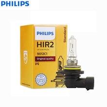 Philips-lámpara halógena estándar para coche, luz Original brillante 9012, H1R2, 12V, 55W, PX22d, 9012C1 + 30%