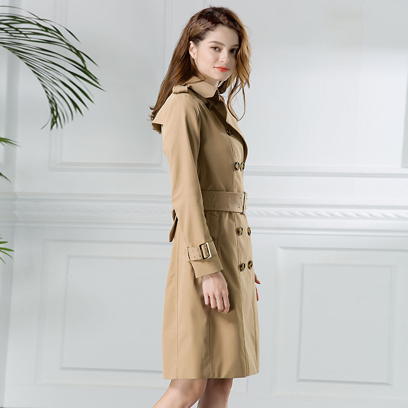 High quality  trench coat Women 2018 Spring Autumn Windbreaker fashion waterproof coat Plus size  trench female top IOQRCJV H310-in Trench from Women's Clothing    3