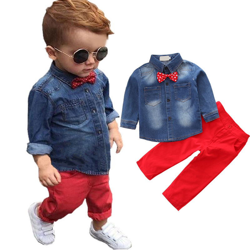 2 Teile/satz Frühling Kinder Kleidung Set Kinder Outfits Jungen Kleidung Säuglings Mädchen Kleidung Lange Hülse Shirt Hosen Kleinkind Bebe Kostüm Clear-Cut-Textur