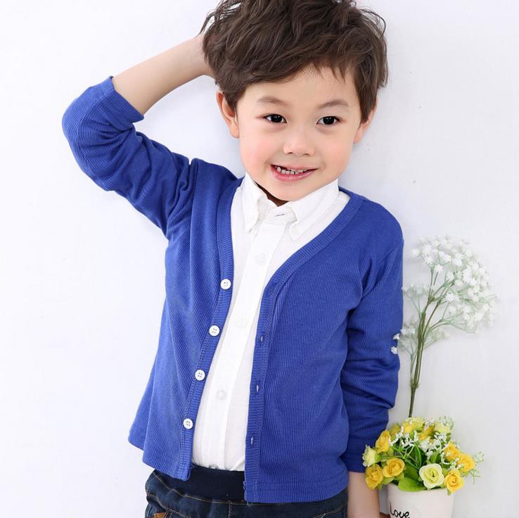 Mode Tiny Cottons Cardigan Boys Solid V-hals Fjäderkläder Slitage - Barnkläder - Foto 5