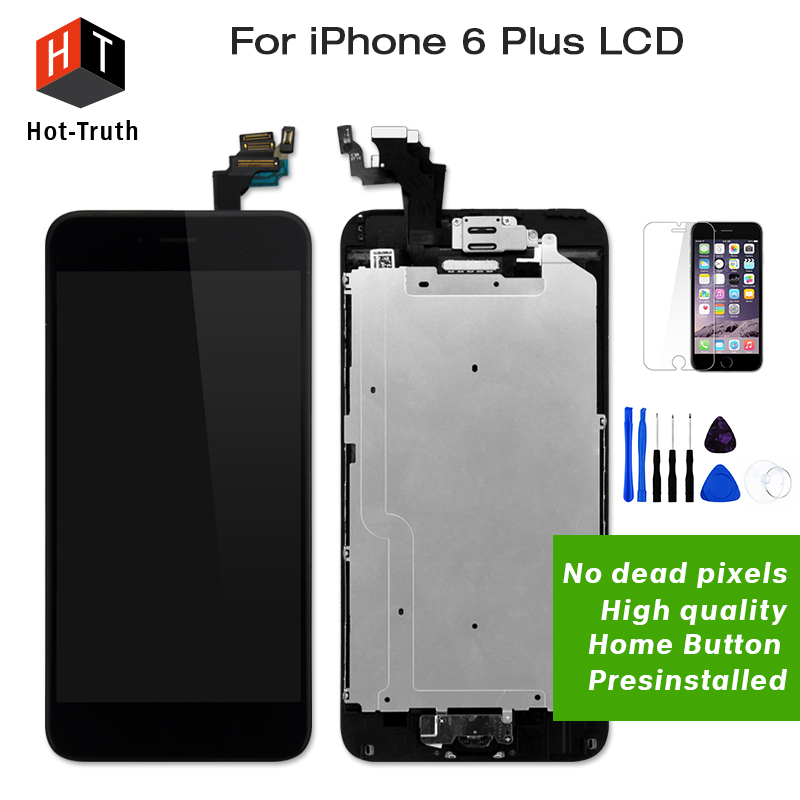 Hot-Truth 20Pcs/Lot Grade AAA+For iPhone 6 Plus Lcd Touch Screen Complete Assembly+Home Button+Front Camera+Tools+Free Shipping al ko frs 4125 112387