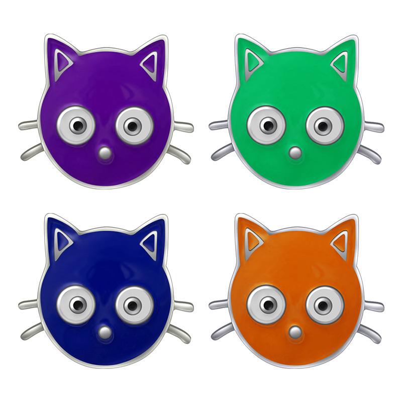 KZ1042 New Beauty Trendy Lovely Colorful Cat 18mm snap buttons fit 18mm snap necklace jewelry wholesale Gift