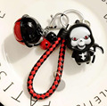 New Cool Skull Death God Coming Evil Light Key Chain Pendant For Bag Handbag Purse Backpack Charms Ornament Novelty Gift