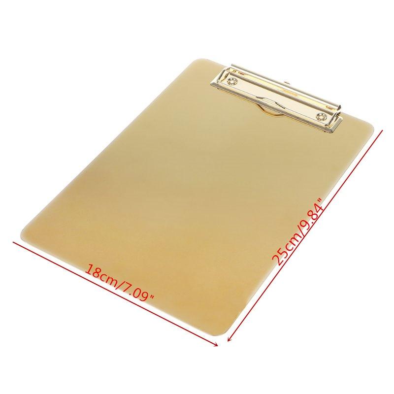 Office & School Supplies Metal Clipboard Writing Pad File Folders Document Holder Desk Storage School Office Stationery Supply 3 Sizes