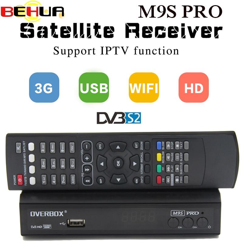 DVB S2 Satellite Receiver HD OVERBOX M9S PRO 1080P Support PowerVu Biss Key newcam cline 3G