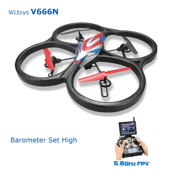 WLtoys V666N 2 4G 6Axis RC Quadcopter 5 8G Wifi FPV Barometer Auto High Altitude Setting