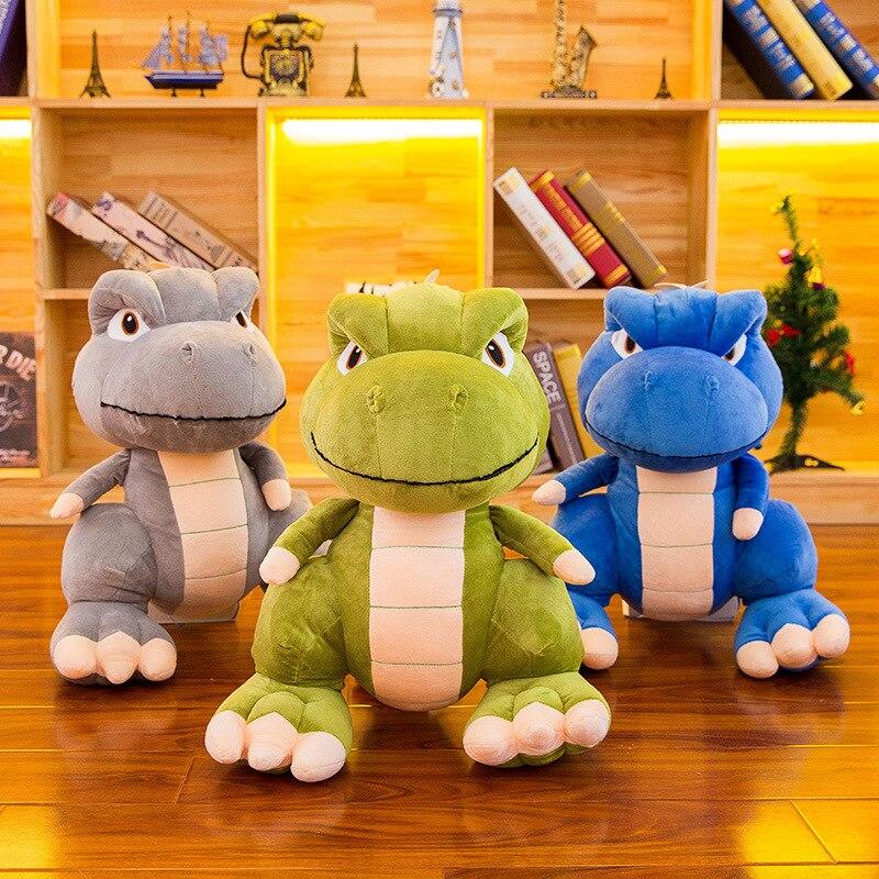 Animal Dinosaur Plush Toys Cartoon Fierce Eyes Tyrannosaurus Stuffed Toy Dolls For Children Boys Kids Birthday Gift Luck Child