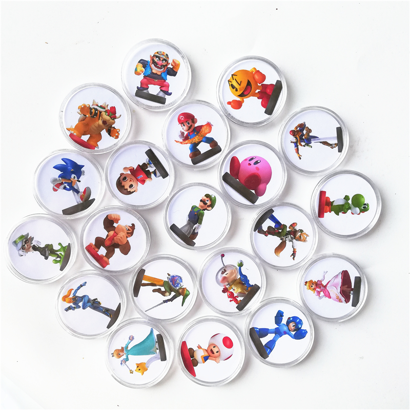 FAST SHIPPING New Data 20Pcs/set Mario Kart 8 Of Amiibo Collection Coin Game Card Ntag215 Sticker NFC Tag NS Switch image