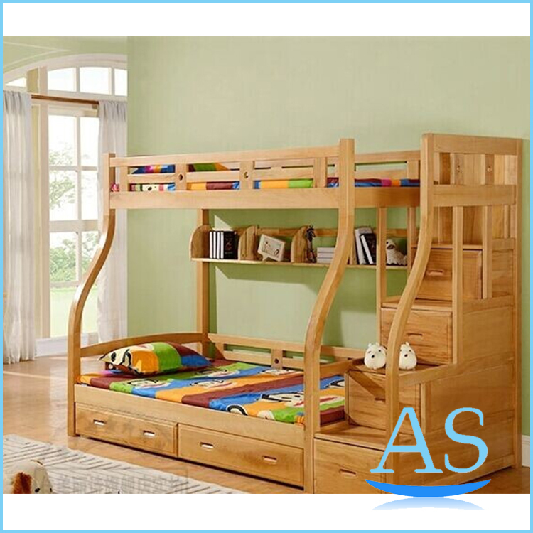 2015 China Good Quality Wooden Kids Bunk Bed Children