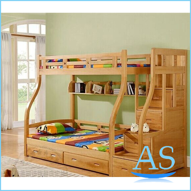 2015 China good quality wooden kids bunk bed children double bed