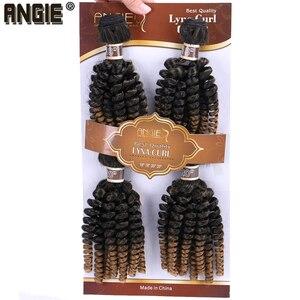 Image 5 - Angie Ombre Funmi syntetyczne włosy do przedłużania 4 wiązki jedno opakowanie w dwóch odcieniach T1B/#30 krótkie włosy doczepiane wysokiej temperatury włókna