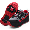 Brillante Niños Patines con Ruedas Niños Led Light up ala Zapatos Zapatillas para Niños Niñas Zapatilla de deporte de tenis de Color Rosa Negro infanti