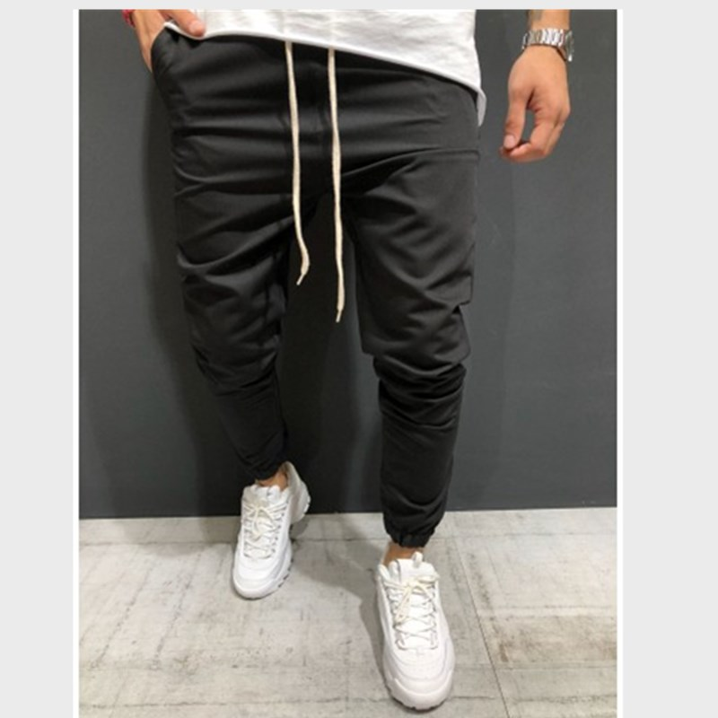 New Men's Trousers In Spring And Autumn Joggers Wear Slacks And Slacks For Casual Sports Full Length Drawstring