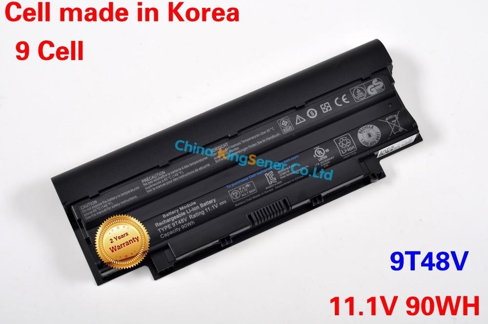 ФОТО 90WH Korea Cell Original Laptop Battery for DELL Inspiron 13R 14R 15R 17R N4010 N5010 N5030 N7010 J1KND 9T48V 04YRJH YXVK2 9CELL