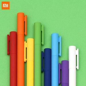 Новейшая гелевая ручка Xiaomi Mijia Youpin Kaco K1 с черной нейтральной ручкой 0,5 цвета черного цвета с плавным написанием
