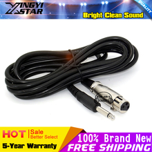3m XLR 3 Pin to 1 4 6 5mm Jack Audio Cable Line For Video Studio