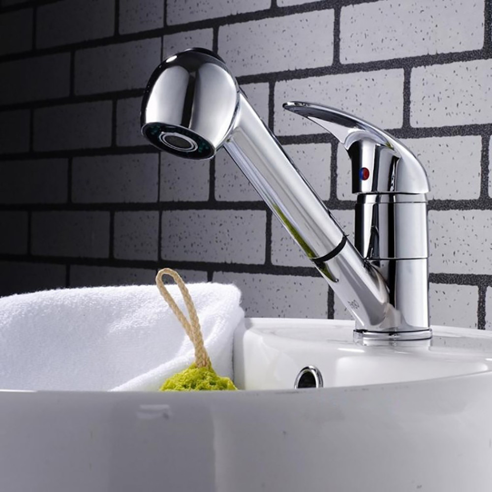 kitchen Faucets Bathroom Shower Tap Single Lever Mixer Faucet Sink Mixer With Pullout  Spray  Head kitchen Faucet 19MAY21