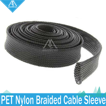 3D printer accessories 2 -5metres 6-10mm Dia Expandable Braided PET Premium Cable Sleeve for RepRap / KOSSEL / Ultimaker 2