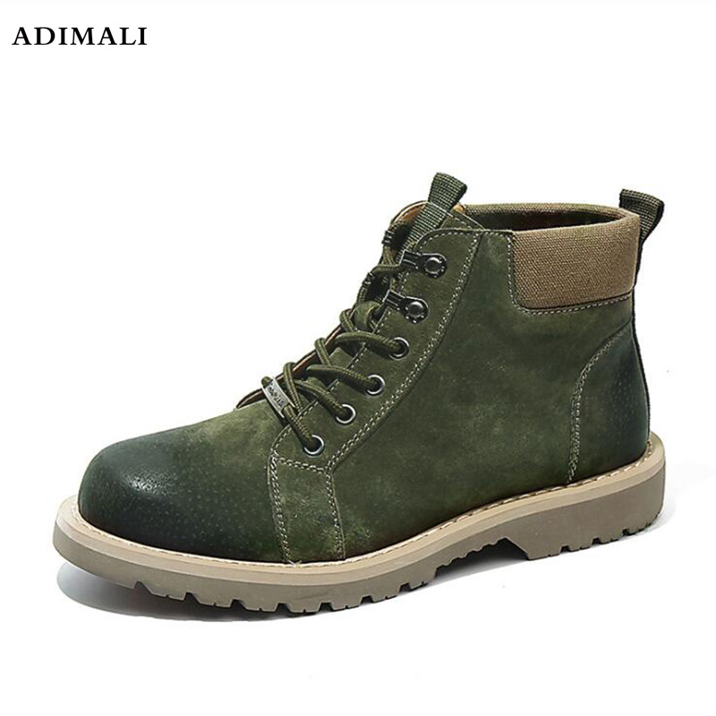 2018 Autumn Winter Stylish Handsome Stitching High tops Men s Shoes Casual Outdoor Skid Trendy Man