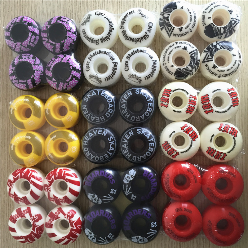 Quality 50-54mm 55D 100A 101A New Blank Skateboarding Wheels OEM For Big Brand Colorful Wheels Left In Stock Price Worth