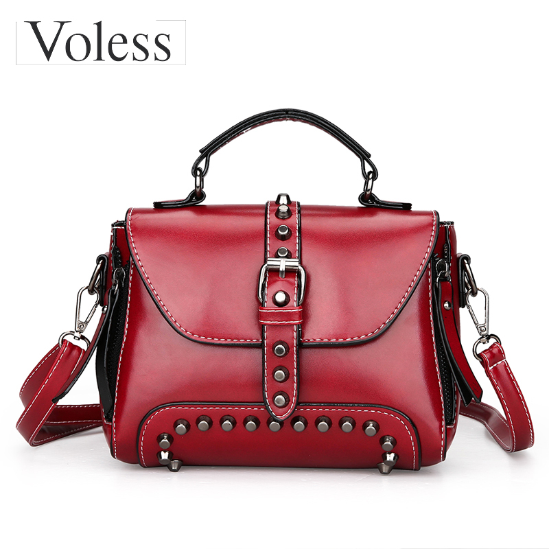 Fashion Brand Women Bags Luxury Handbags Women Bags Designer Women Crossbody Bags High Quality Pu Leather Rivet Tote Bags New 2017 fashion women pu leather bags brand designer handbags