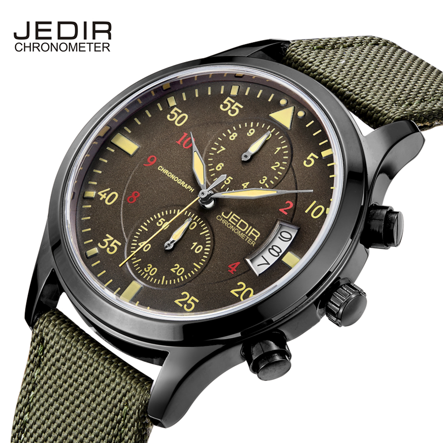 Men's Quartz Watches From JEDIR Top Brand Luxury waterproof watch Man Clock commercial Male leather wristwatch genuine jedir quartz male watches genuine leather watches racing men students game run chronograph watch male glow hands