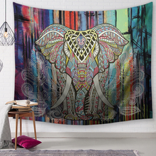 Nordic style Tapestry Wall Hanging Psychedelic Forest with Birds Bohemian Mandala Hippie for Bedroom