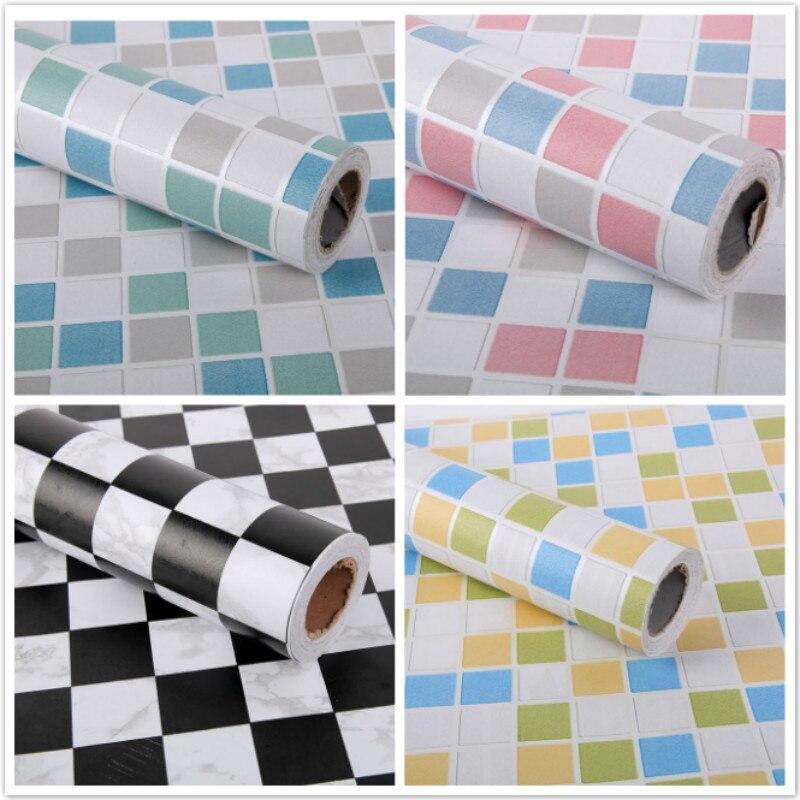maruoxuan cm mosaico impermeable vinilo decorativo papel pintado para cocina