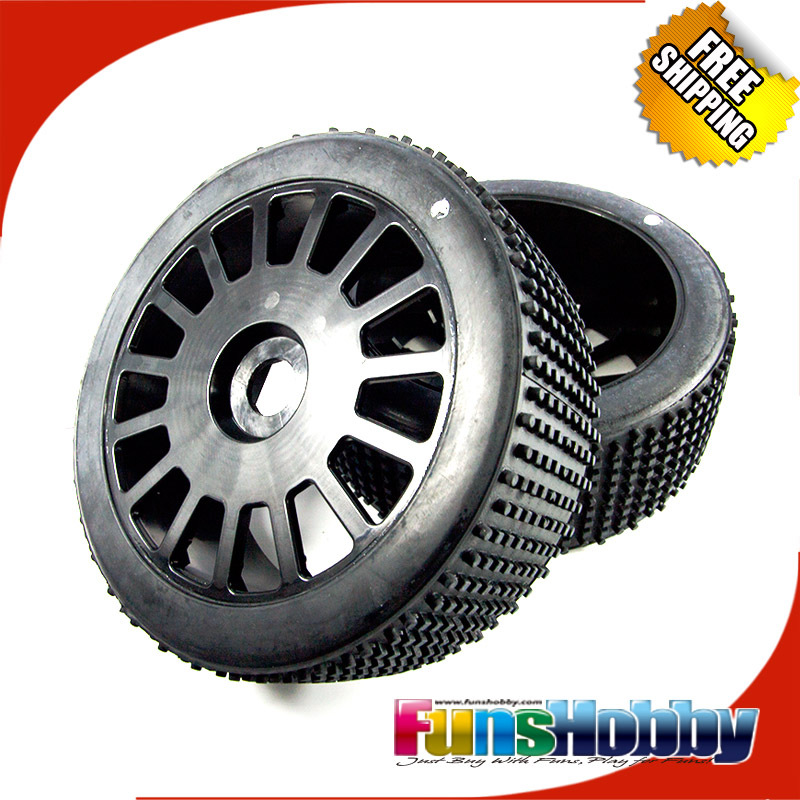 MCD1:5 4WD Nitro Model Off Road Short Course Truck Tyres Tires 180 mm Micro Stud Ultra Grip on 15 spoke wheel ASSY(COD.011100X0)