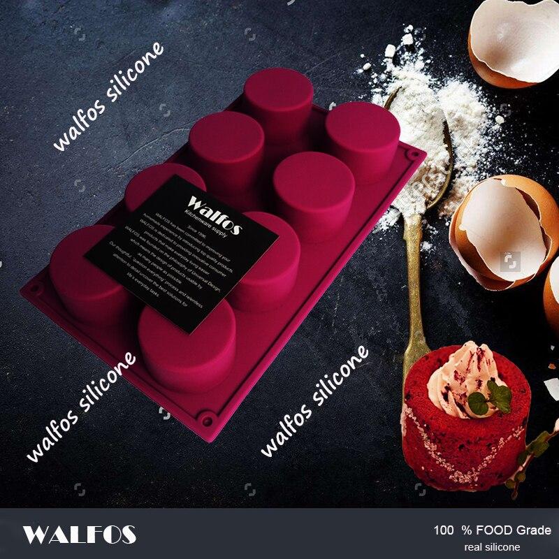 WALFOS 3D əl istehsalı Dəyirmi Şəkilli Silikon Tort Kalıp - Mətbəx, yemək otağı və barı - Fotoqrafiya 3