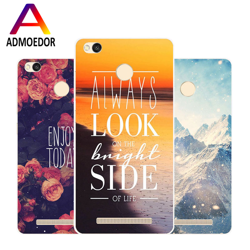 Xiaomi redmi 4x Case,Silicon scenery Painting Soft TPU  Back Cover for Xiaomi redmi 4 x Phone protect Bags shell