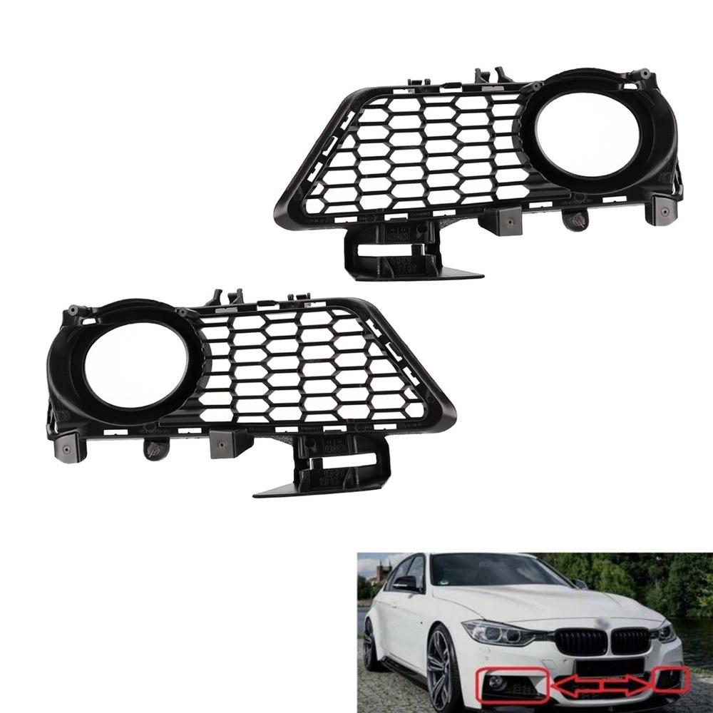 TAIHONGYU paire avant pare-chocs antibrouillard gril pour BMW série 3 F30 F31 2011-2015 M Sport