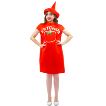Tomato Ketchup Spicy mustard Costume With Hat top Halloween Couples