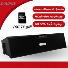 SDY-019 Sardina Original Bluetooth wireless HIFI Altavoz Portátil 10 w USB Amplificador Estéreo Caja de Sonido con Radio FM mic 16G