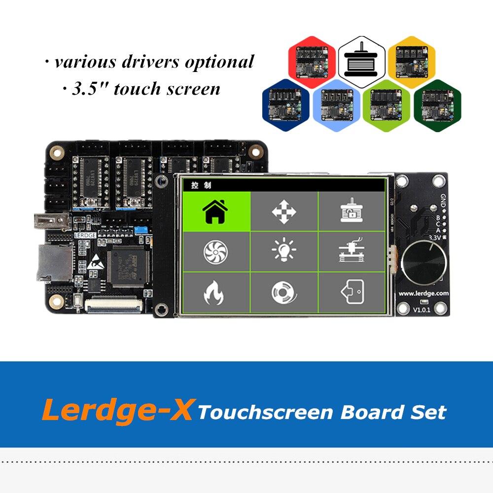 ARM 32bit LERDGE X 3D Printer 3 5 Touchscreen Board Controller Mainboard Set With 1pc HT