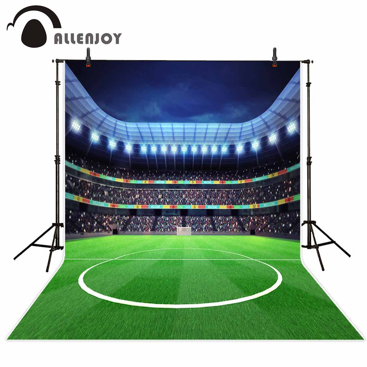 Allenjoy new photography theme background Grass Green Football Stadium competition natural children photos camera fotografica