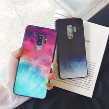 Gradient Glass Phone Case For Samsung Galaxy S10 S9 S8 Plus Ultra Thin Tempered Cases for Note 9 8 Colorful Cover