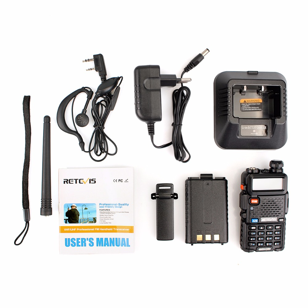 Image 5 - 2pcs Retevis RT 5R Walkie Talkie Radio 128CH VHF UHF Dual Band Ham Radio Amador Hf Transceiver 2 Way cb Radio Communicator RT5R-in Walkie Talkie from Cellphones & Telecommunications