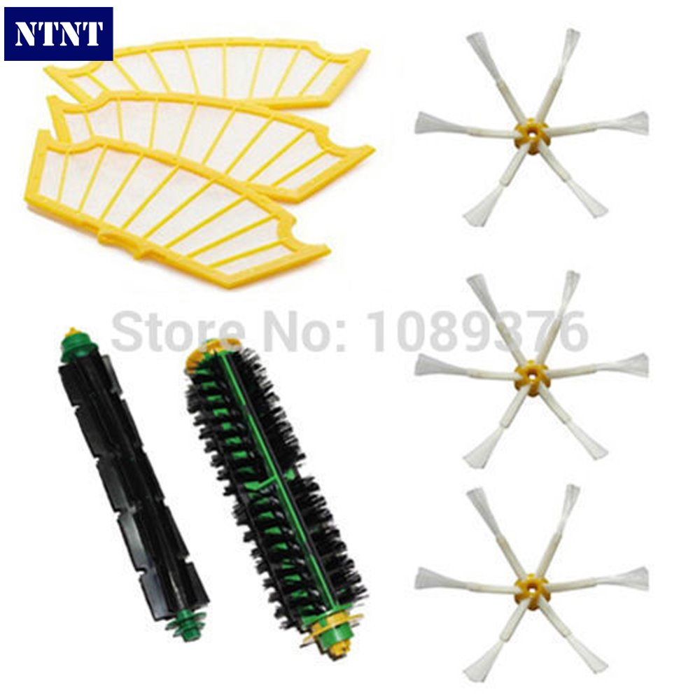 NTNT Free Post New 6-armed Filters & Brush Pack Mega Kit for iRobot Roomba 500 Series ntnt free shipping side brush filters 6 armed mini kit for irobot roomba 500 series