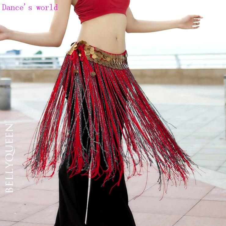 Wholesale Dance Skirt Sexy Tassel Belly Dance Clothes Women Belly Dance Hip Scarf Girls Dance Chain