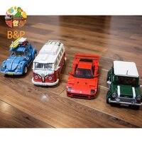 lepin In Stock 2017 New F40 Sport Car T1 Camper Van MINI Cooper Volkswagen beet Model Building Kits Bricks Toys Children Gift