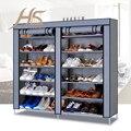 Casa Paisaje 12 Capas Montado Gabinete Zapatos de Tela No tejida Plegable A Prueba de Polvo Wetproof Zapatos Armarios Bastidores Para Sala de estar